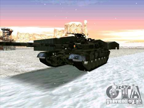 Т-90 из Battlefield 3 для GTA San Andreas вид слева