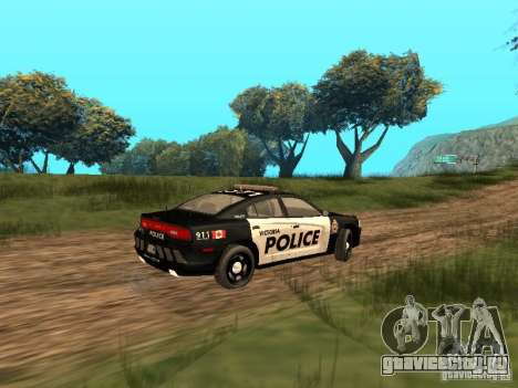 Dodge Charger Canadian Victoria Police 2011 для GTA San Andreas вид сзади