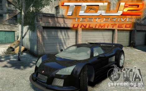 Gumpert Apollo Sport для GTA 4 вид сзади слева