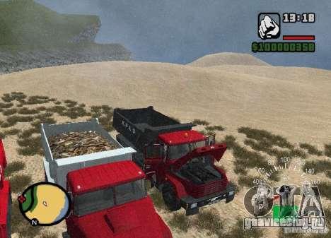 KrAZ 65055 Самосвал для GTA San Andreas вид сбоку