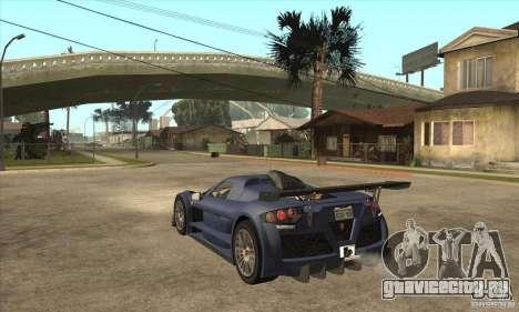 Gumpert Apollo Sport для GTA San Andreas вид сзади слева