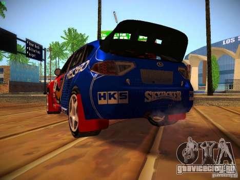 Subaru Impreza WRX STi N14 Rallycross для GTA San Andreas вид сбоку