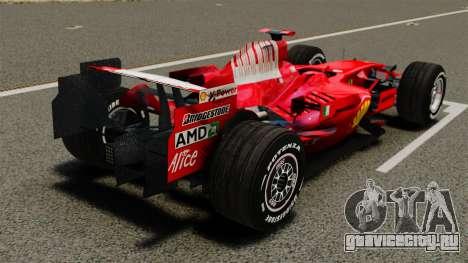 Ferrari F2008 для GTA 4 вид сзади слева