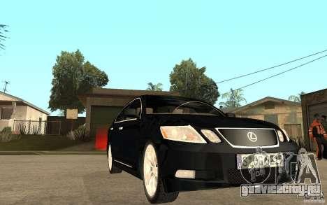 Lexus GS430 2007 для GTA San Andreas вид сзади