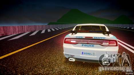 Dodge Charger NYPD 2012 [ELS] для GTA 4 салон