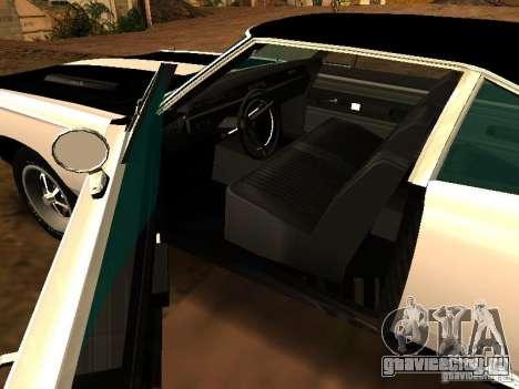 Plymouth GTX 1969 для GTA San Andreas вид сзади