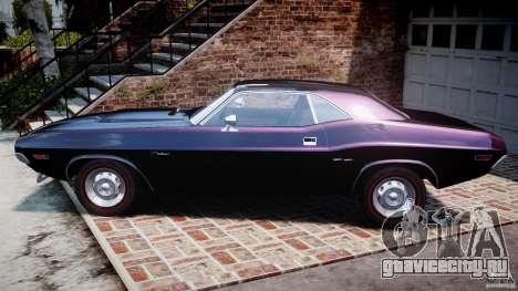 Dodge Challenger 1971 RT для GTA 4 вид слева