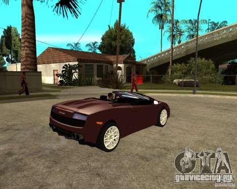 Lamborghini Gallardo LP560-4 Spyder для GTA San Andreas вид справа