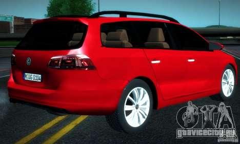 Volkswagen Passat B7 2012 для GTA San Andreas вид слева