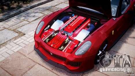 Ferrari 599 XX для GTA 4 вид изнутри