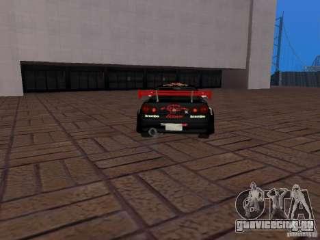 Nissan Skyline GT-R R34 Tunable для GTA San Andreas вид изнутри