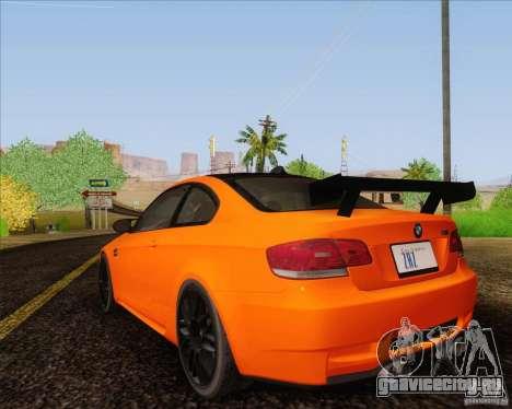BMW M3 GT-S для GTA San Andreas вид слева