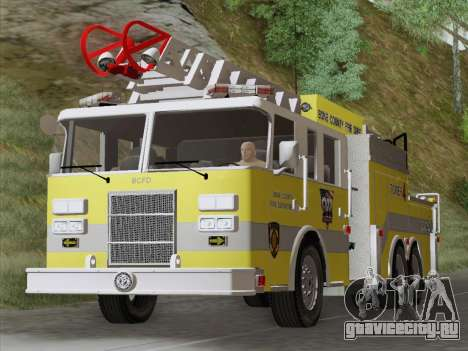 Pierce Arrow XT BCFD Tower Ladder 4 для GTA San Andreas вид слева