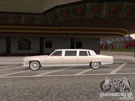 Cadillac Fleetwood Limousine 1985 для GTA San Andreas вид слева