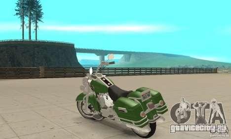 Harley Davidson Road King для GTA San Andreas вид сзади слева