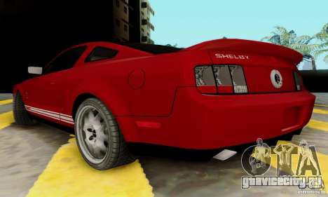 Ford Shelby GT500 для GTA San Andreas вид сзади слева