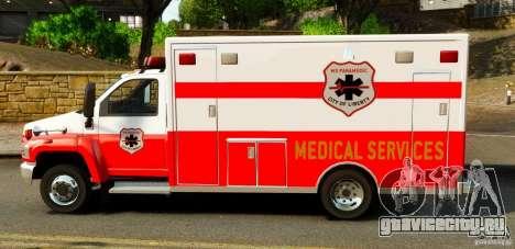 GMC C5500 Topkick Ambulance для GTA 4 вид слева