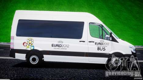 Mercedes-Benz Sprinter Euro 2012 для GTA 4 вид изнутри