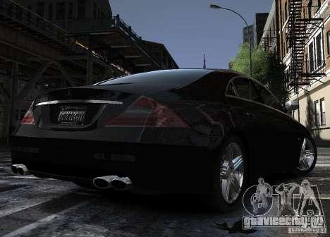 Mercedes-Benz CLS 63 AMG для GTA 4 вид сзади