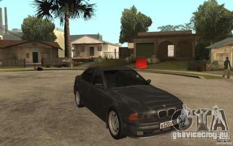 BMW 523i E39 1997 для GTA San Andreas вид сзади