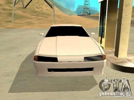 New Elegy v.1 для GTA San Andreas вид изнутри