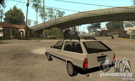 VW Parati GLS 1989 для GTA San Andreas вид сзади слева