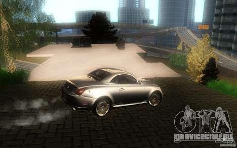 Lexus SC430 для GTA San Andreas вид сбоку