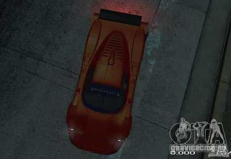 Maserati MC12 R для GTA 4 вид справа