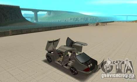 Mercedes Benz AMG S65 DUB для GTA San Andreas вид изнутри