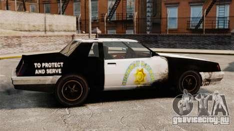 Полицейская раскраска для ржавого Sabre для GTA 4 вид слева