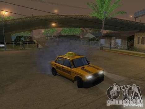 ВАЗ 2106 Такси тюнинг для GTA San Andreas вид сзади