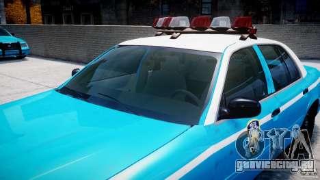 Ford Crown Victoria Classic Blue NYPD Scheme для GTA 4 двигатель