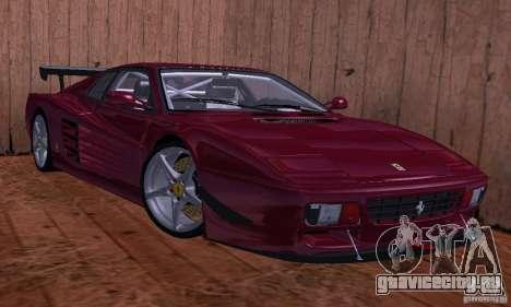 Ferrari 512 TR для GTA San Andreas вид сзади слева