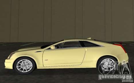 Cadillac CTS-V Coupe для GTA Vice City вид изнутри