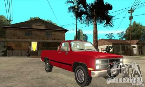 GMC Sierra 2500 для GTA San Andreas вид сзади