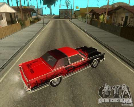 Lincoln Continental Town Coupe 1979 для GTA San Andreas вид справа
