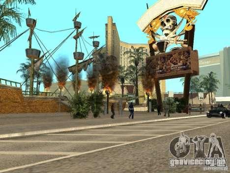 Новые текстуры для казино Визаж для GTA San Andreas