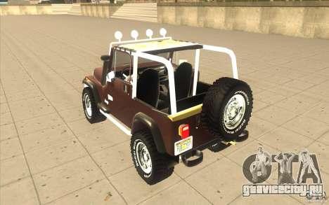 Jeep Wrangler 1986(2) для GTA San Andreas вид справа