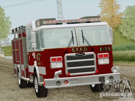 Pierce Pumpers. San Francisco Fire Departament для GTA San Andreas вид снизу