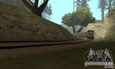 Вагон Российских железных дорог 2 для GTA San Andreas вид сзади слева