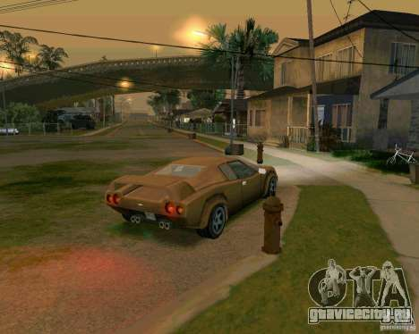 Infernus from Vice City для GTA San Andreas вид сзади слева