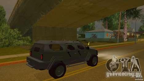 Gurkha LAPV для GTA San Andreas вид слева