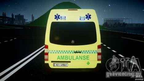 Mercedes-Benz Sprinter PK731 Ambulance [ELS] для GTA 4 колёса
