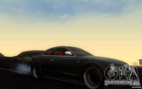 Audi S5 Black Edition для GTA San Andreas вид изнутри