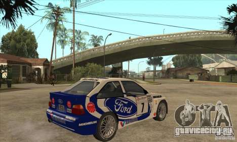 Ford Escort RS Cosworth для GTA San Andreas вид сбоку