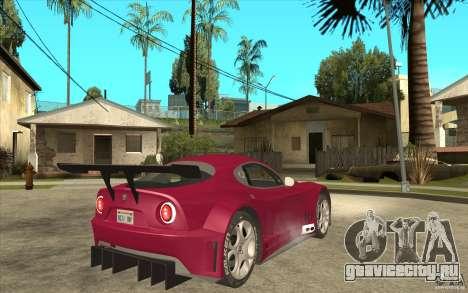 Alfa Romeo 8C GT3 RSX для GTA San Andreas вид справа