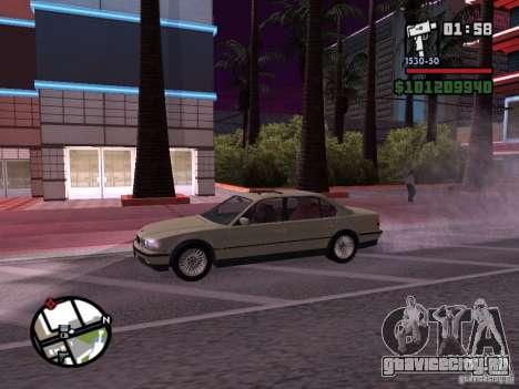 BMW 750i (e38) для GTA San Andreas вид сзади слева