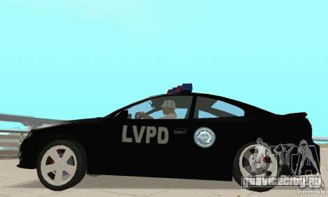 Pontiac GTO 2004 Cop для GTA San Andreas вид справа