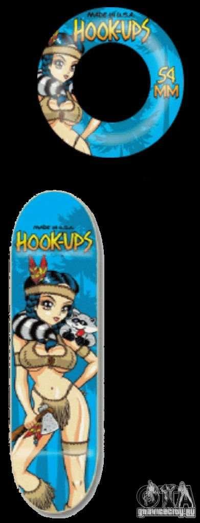 Скейтборд №1 для GTA 4 вид справа