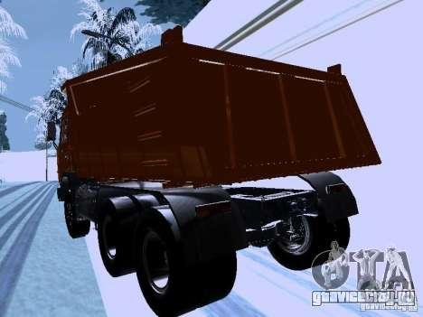 КамАЗ 54115 Самосвал для GTA San Andreas вид сзади слева